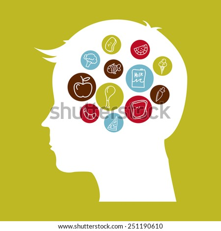 think food design, vector illustration eps10 graphic  - stock vector
