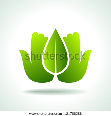 Think Green. Ecology Concept icon - stock vector