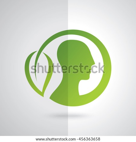 think green save earth concept - stock vector