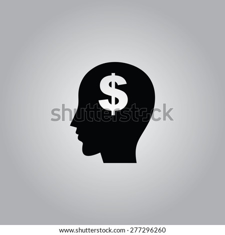 Think Money Icon. - stock vector