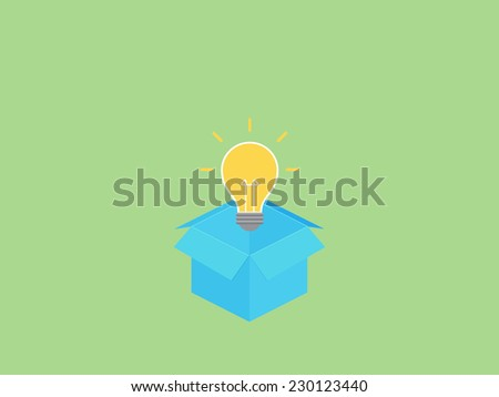 Think on the box - stock vector
