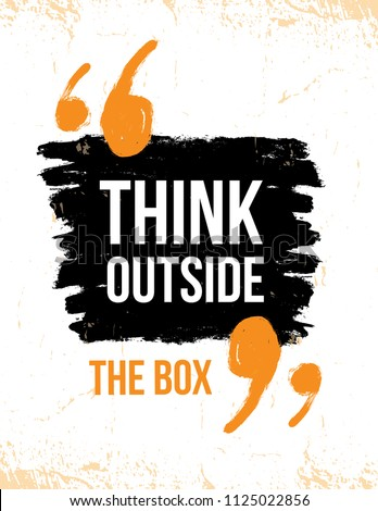 think outside box typography poster vector stock vector 1125022856 rh shutterstock com grunge vector background free download vector grunge background illustrator