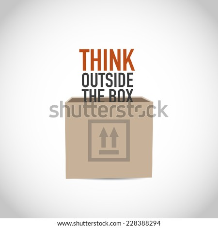 Think outside the box vector - stock vector
