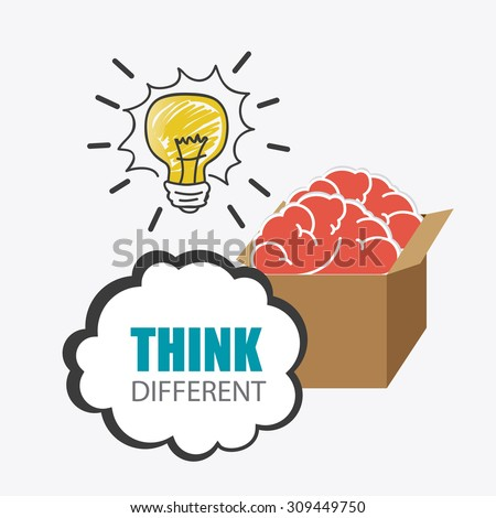 Think positive design, vector illustration eps 10. - stock vector