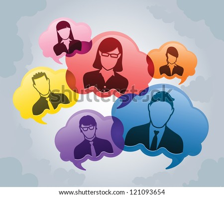 Think Tank Brainstorm Cloud - stock vector