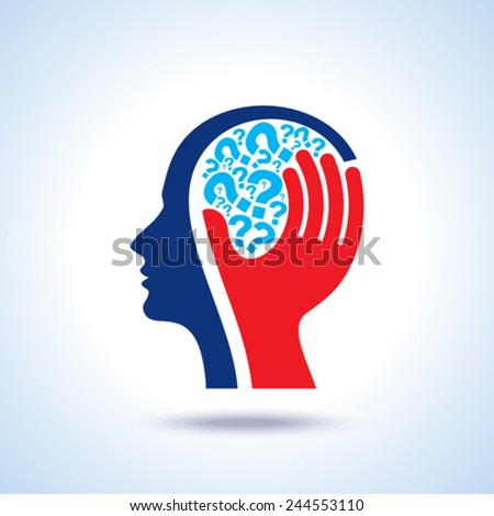 thinking a new idea - Illustration - stock vector