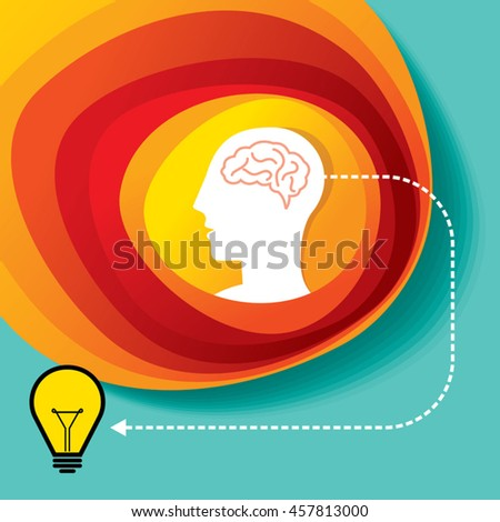 Thinking brain different idea, concept vector - stock vector
