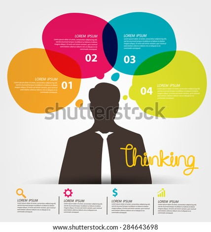 Thinking concept. Business concept vector illustration.