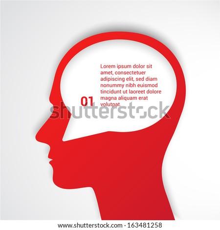 Thinking man with speech. Vector illustration.  - stock vector