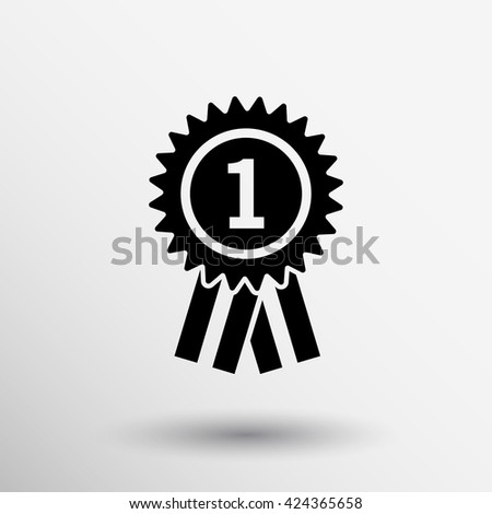 Third place award sign icon Prize winner symbol Circle button Modern UI website navigation logo. - stock vector