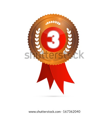 Third Place, Bronze Medal - stock vector
