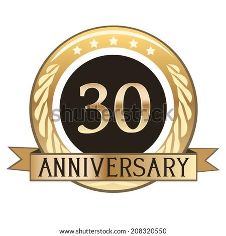 Thirty Year Anniversary Seal Stock Vector 208320550 Shutterstock