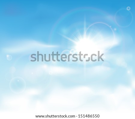 This image is a vector file representing a clear blue sky. / Clear Blue Sky / Clear Blue Sky - stock vector