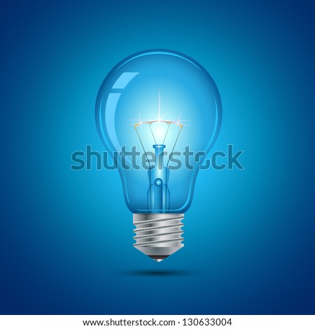 This image is a vector file representing a light bulb. / Light Bulb - stock vector