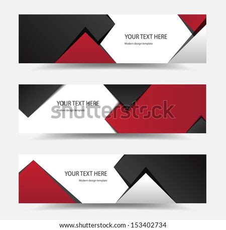 This image is a vector file representing a modern banner set. - stock vector