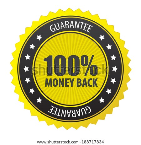 This image is a vector file representing 100% guarantee label./Vector Guarantee Label/Vector Guarantee Label - stock vector