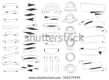 This image is a vector file representing Labels Stickers Banners Tags Banners vector design collection./Labels Tag Sticker Banners Vector/Labels Tag Sticker Banners Vector - stock vector
