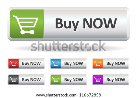 This image is a vector illustration representing a buy button what can be scaled to any size without loss of resolution. - stock vector