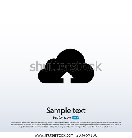 This image represents a cloud upload illustration icon, vector illustration. Flat design style - stock vector