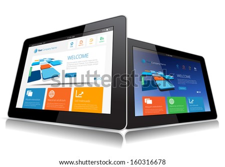 This image represents a Internet Tablet vector./ Vector Tablet / Vector Tablet - stock vector