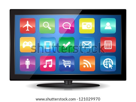 This image represents a Smart TV. / Smart TV
