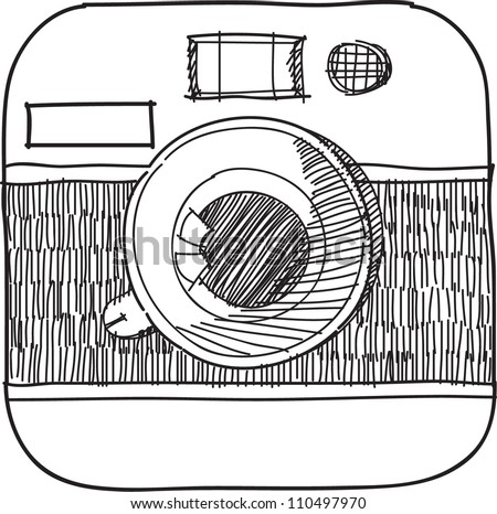 This is a camera icon in a vector file.sketch on my imagination - stock vector