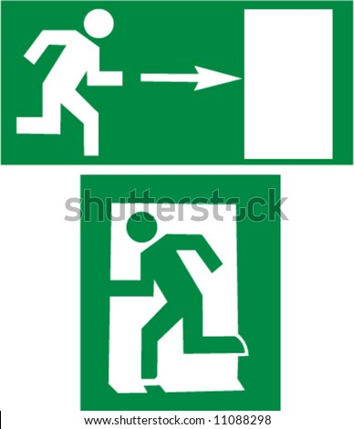 This is a sign directed on exit - stock vector