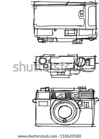 This is a vector file of camera view.This file is sketch on my imagination - stock vector