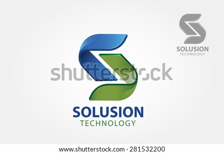 "This is an abstract logo but also can be interpreted as a letter of ""S"" logo.  - stock vector"