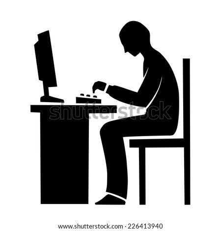 This is an illustration of programmer - stock vector