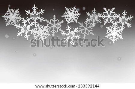 This is an illustration of snow crystals.