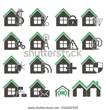 This is image of houses icons