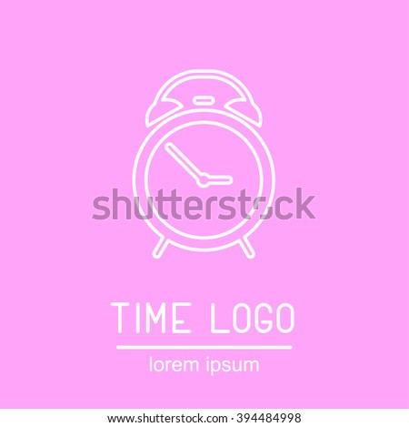 This is perfect thin linear illustration of clock topic. The best collection for your needs. Useful for web, apps, button, invitation, postcard and other. Alarm clock logotype