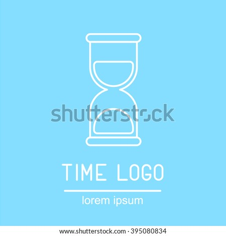 This is perfect thin linear illustration of clock topic. The best collection for your needs. Useful for web, apps, button, invitation, postcard and other. Hourglass time logotype and icon