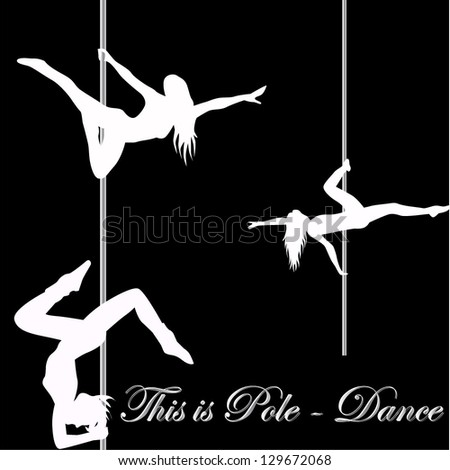 This is Pole Dance - stock vector