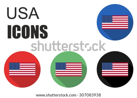 This is set usa flat icons - stock vector