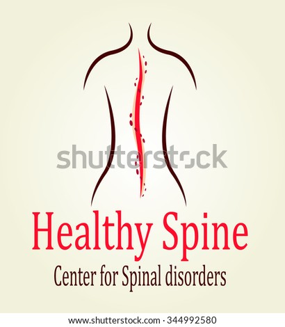 this is spine logo for medical centers - stock vector