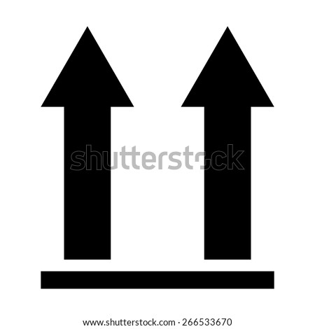 This side up packaging symbol on white background, vector illustration - stock vector