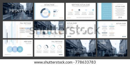 this template best business presentation used stock vector, Powerpoint templates