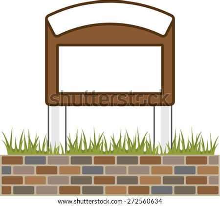 This town sign Vector Blank - stock vector