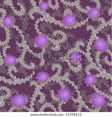 thistle seamless background - stock vector