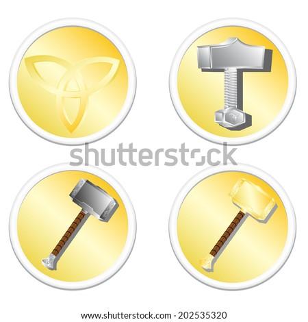 thor - stock vector