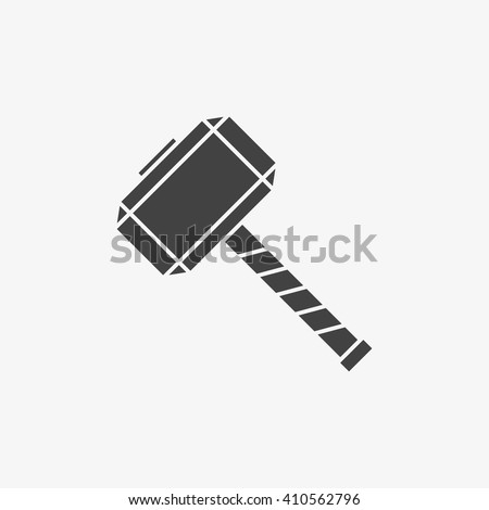 thor hammer icon trendy flat style stock vector 2018 410562796