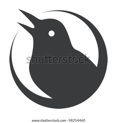 thorn bird vector - stock vector
