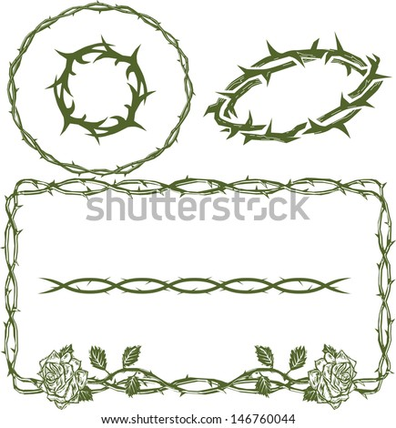 Thorn Collection - stock vector
