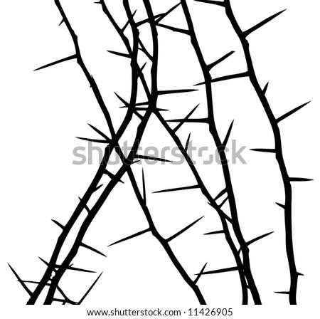 thorny - stock vector