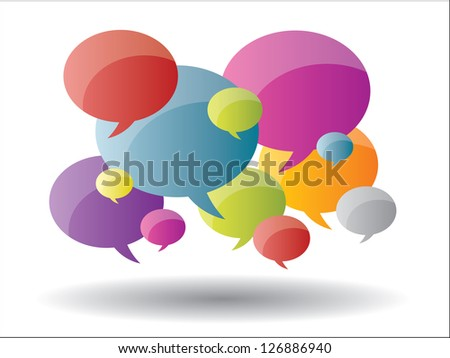 Thought and speech bubbles - stock vector
