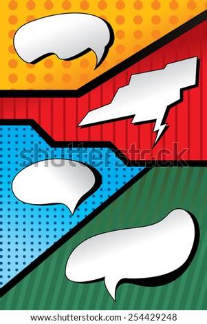 Thought Bubble Collection, POP Art (vector Art) - stock vector