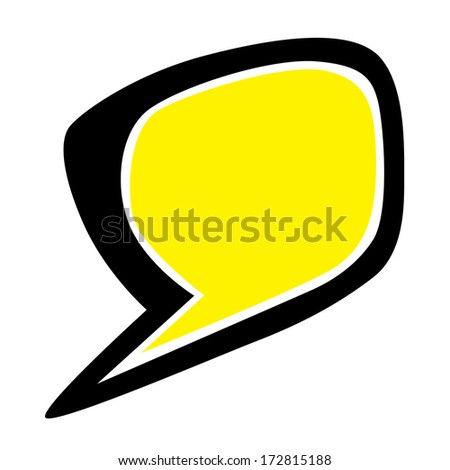 Thought bubble drawing  - stock vector