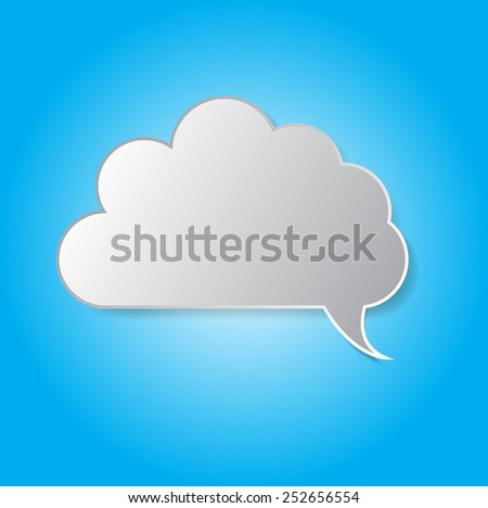 thought bubbles - stock vector